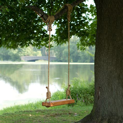 rope tree swings reclaimed floor joist tree swing terrain