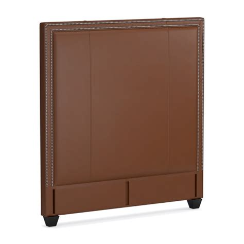 tall leather headboard gramercy tall leather bed headboard williams sonoma