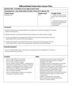 differentiated lesson plan template pdf professional development