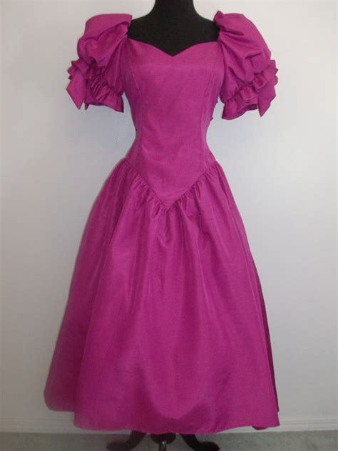 popular 80s prom color vintage 1980s prom dressy dress party formal bridesmaid
