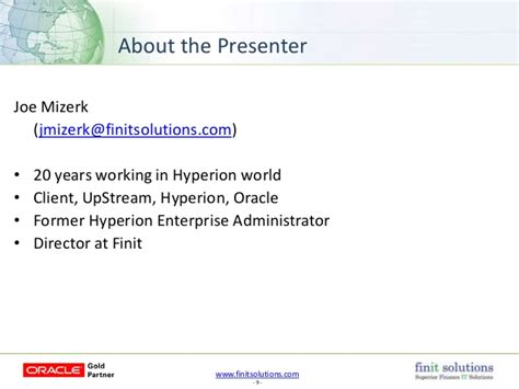Hyperion Administrator by Finit Solutions Webinar Oracle Epm What Does All This Stuff Really Do