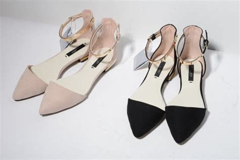 Flatshoes Zara Gold pointed flats pointed shoes shoes neutral beige black