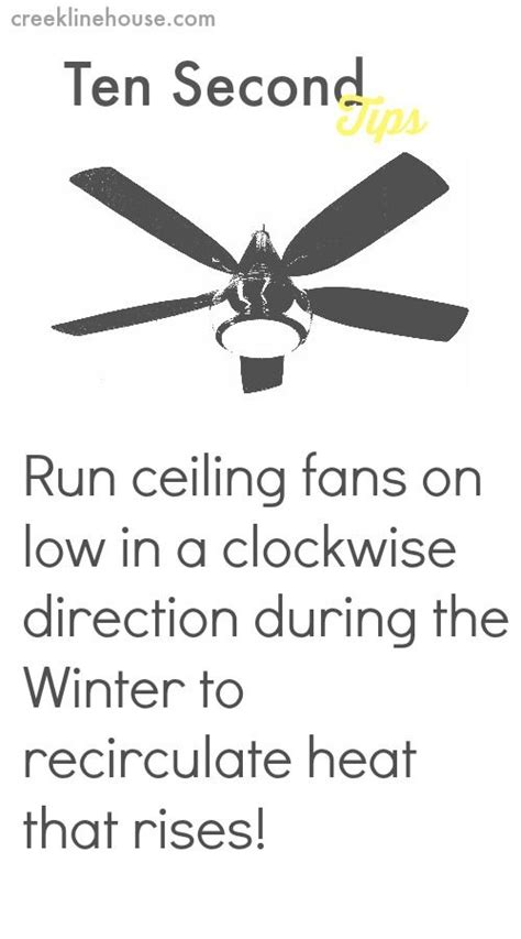 Ceiling Fans Direction For Heating by 17 Best Ideas About Energy Saving Tips On