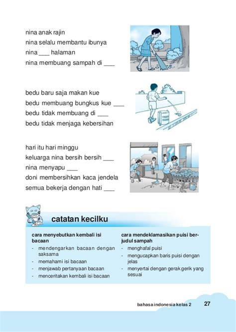 membuat puisi dengan tema lingkungan bahasa indonesia kls 2