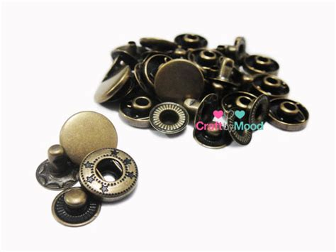 Kancing Jepret 12mmsnap Button 12mm Atg snap button 12mm bronze metal tidak berkarat craftbymood