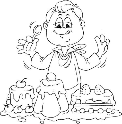 girl eating coloring pages coloring pages