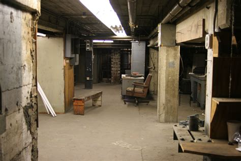 the basement los angeles halls stairs exterior etc herald examiner los angeles