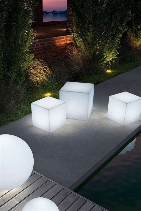 zuo modern cube lumen multicolor large stool outdoor