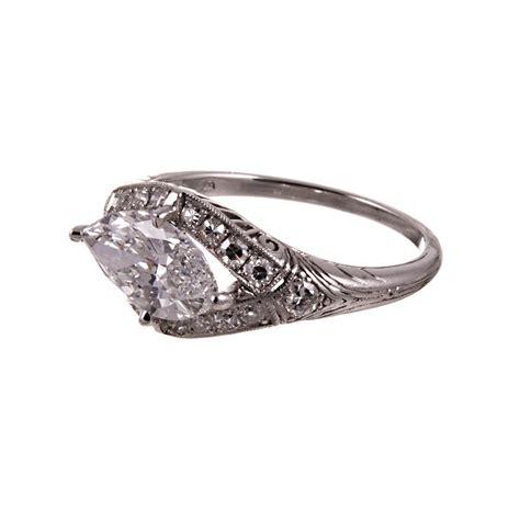 horizontal markise horizontal 1 65 carat marquise platinum ring at