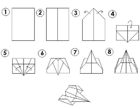 Steps To Make Paper Airplanes That Fly Far - how to make cool paper airplanes that fly far step by step