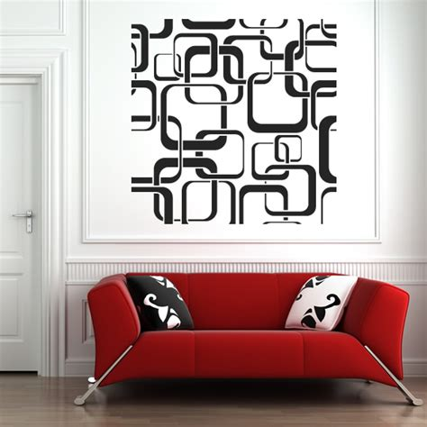 pattern wall decals uk square patterns wall stickers wall art decal transfers ebay