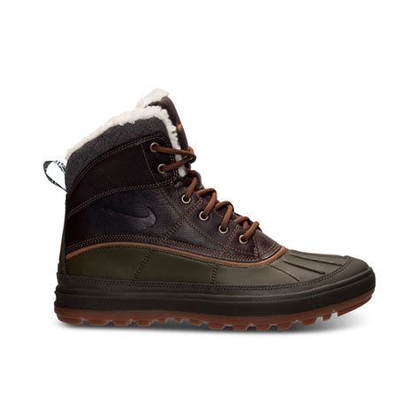 black nike boots nike mens woodside ii boots from finish line in black for