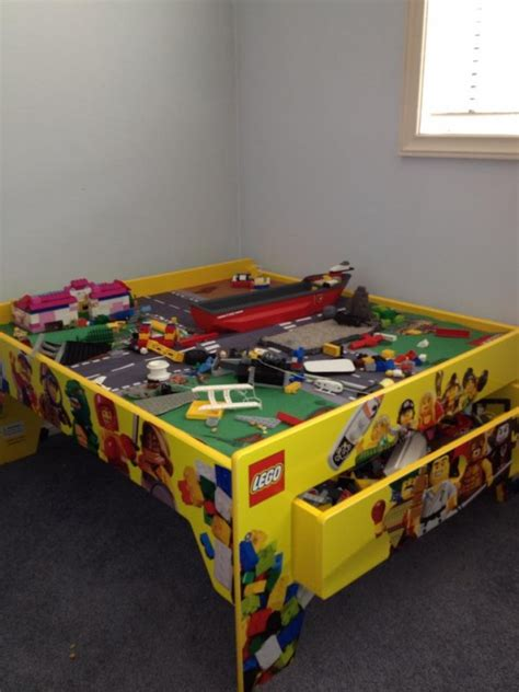 lego table with storage 40 awesome lego storage ideas the organised