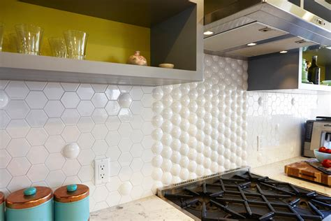 sumptuous hexagon tile in kitchen contemporary with