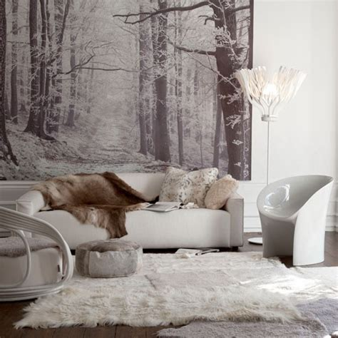 winter room decor choose sheepskin accessories winter living room