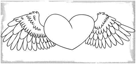 imagenes a lapiz de corazones con alas como dibujar un corazon con alas a lapiz archivos