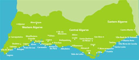 Porches Algarve Map by Owners Direct Algarve Property Rental Agents For The Algarve