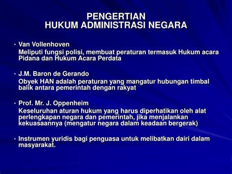 hukum administrasi negaraprofprajudi atmosudirdjo ppt hukum administrasi negara powerpoint presentation