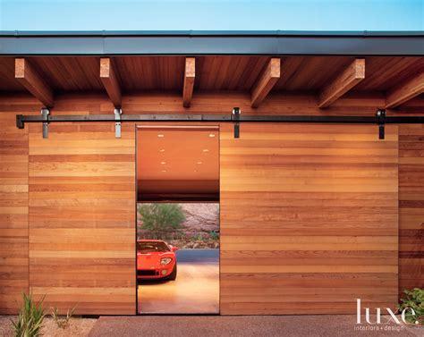 Sliding Barn Style Cedar Door For An Arizona Garage Garage Barn Doors