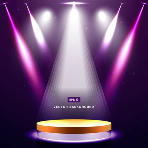 free stage background design vector purple spotlight with stage background vector 01 vector