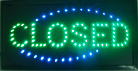lights when closed 2018 closed shop led 19x10 sign bright store neon bar