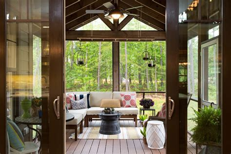 richmond enclosed ceiling fan porch sunroom traditional