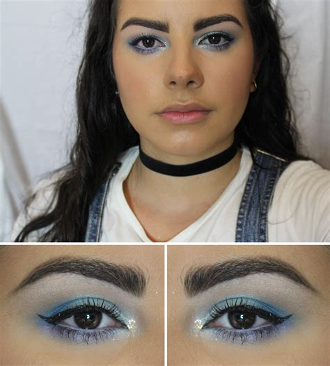 up 90s blue frosty 90 s makeup look the milk