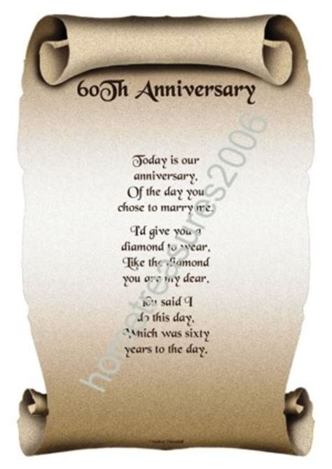 60th wedding anniversary poems for grandparents 60th wedding anniversary poem quotes