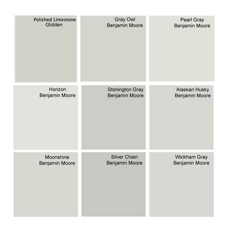 best gray paint colors glidden polished limestone benjamin gray owl benjamin