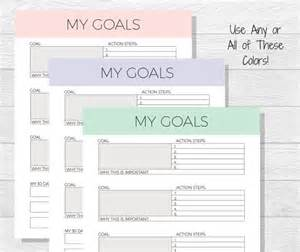 Brian Tracy Goal Setting Template by Goal Template Goal Planner Printable Goals Printable