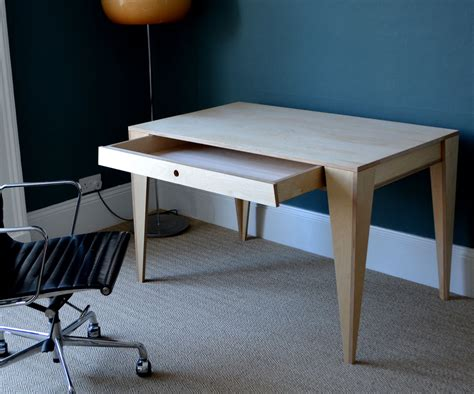 A Desk In by Table Desk With Drawer From One Sheet Of Ply Designed