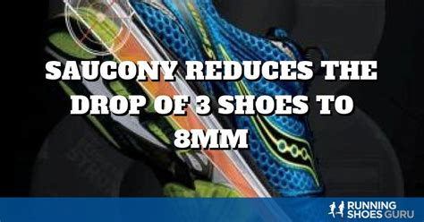 saucony reduces  drop   shoes  mm running shoes