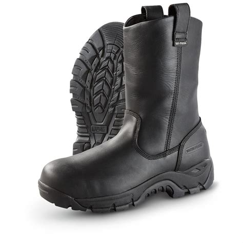 men s pull on motorcycle boots black pull on work boots cr boot