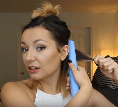 using curling iron on short hair pt 2 short hairstyles how to curl short hair with a flat iron beauty hair guide