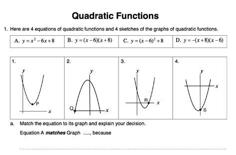 Drawing Quadratic Graphs by Plotting Quadratics Solve My Maths