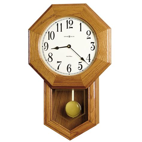 wall clock howard miller elliot schoolhouse wall clock 625242