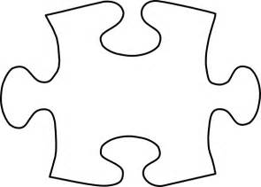 large blank puzzle pieces template jigsaw white puzzle large clip at clker