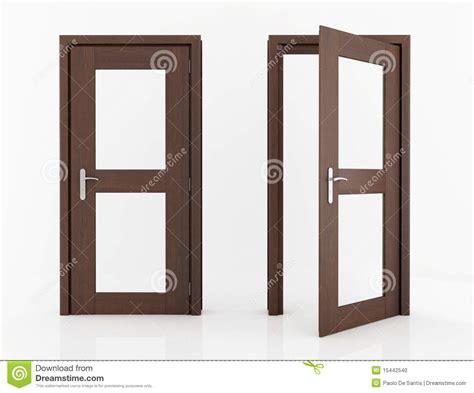 Wood Door Glass Wood Door With Glass Stock Photo Image 15442540