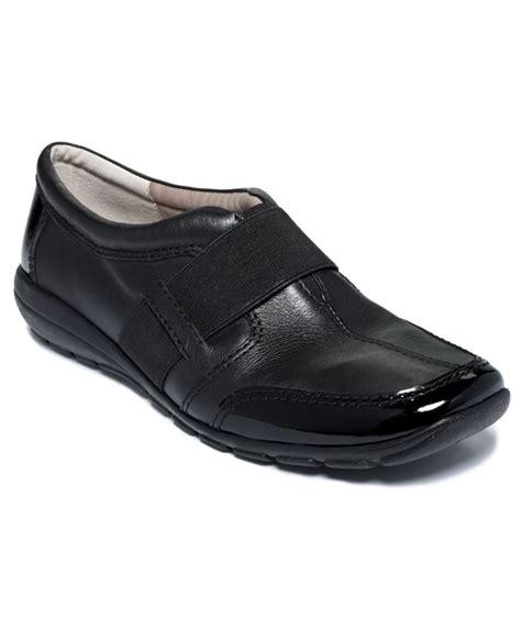 easy spirit new agora black leather patent trim slip on casual shoes 6 5 bhfo ebay