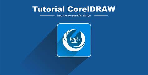 tutorial membuat logo keren dengan coreldraw cara membuat efek long shadow pada logo flat design dengan