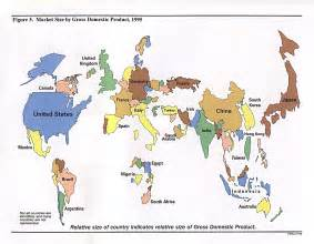 World Market Map by Market Size World Map World Mappery