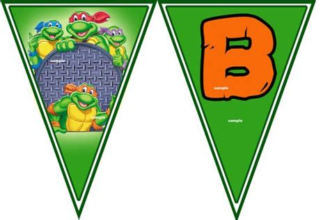 Free Printable Turtle Birthday Banner
