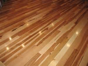 indoor natural element of hickory wood floor refinishing