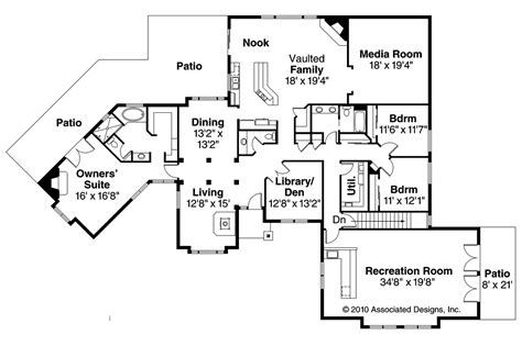 house floor plan sle ranch house plans hillcrest 10 557 associated designs