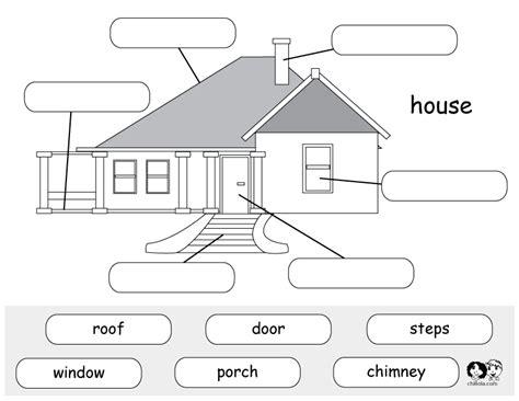 printable house worksheet printable worksheet house english english worksheets for