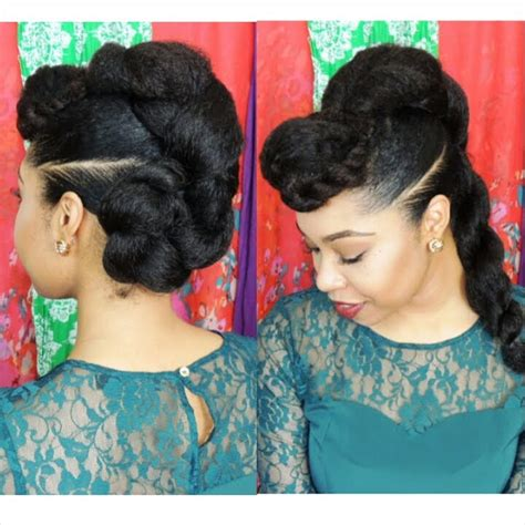 prom kanakalon stylrs pin up hairstyles for short natural hair with black