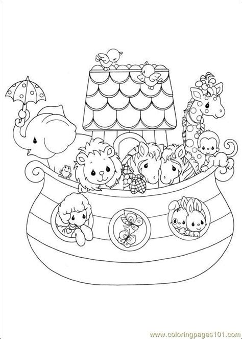 coloring pages for noah s ark precious moments 05 noah s ark larger image on file