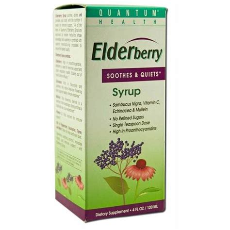 Elderberry Detox by Quantum Elderberry Cough Syrup 4 Oz Evitamins