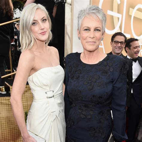 jamie lee curtis brings daughter annie guest as her date