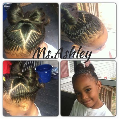 hair with small braids unserneath cute kids under braid out with a star baby hair